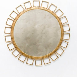 Shelby Mirror - This fantastically glam gold-leafed mirror from Greige would make a living room feel really luxurious. I would pair it with velvet sofas and lots of candles.
