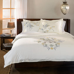 None - Hyacinth 3-piece Floral Duvet Cover Set - Relax in style and comfort under the Hyacinth duvet cover set. Made of 100-percent cotton,this floral design set will bring charm to your bedroom decor.
