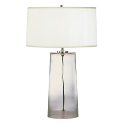 Robert Abbey - Rico Espinet Olinda Table Lamp - The gentle taper of this glass-based table lamp will stun you with its subtle beauty. With this elegant organza shaded lamp on your table, you'll love turning on the light in the evening.