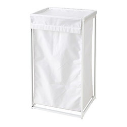IKEA of Sweden - ANTONIUS Laundry bag with stand - Laundry bag with stand, white, white