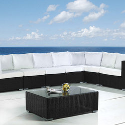 Beliani - Deep Seating Modular Outdoor Lounge Furniture Grande by Beliani - Many different setups possible with this modern design luxury outdoor lounge. The furniture is finished with an all-weather resin.