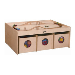 Jonti-Craft - Jonti Craft Activity Table with 6 Storage Bins - Large play surface provides ample play space.