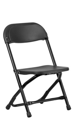 Flash Furniture - Flash Furniture Kids Black Plastic Folding Chair - Provide kids with seating that was specifically designed for them and can be stored away when no longer in use. This Plastic folding chair will make an exciting addition to any classroom, daycare center or in the home. The Lightweight design makes it ideal for the child to easily transport and setup for group activities, reading and other learning groupings.