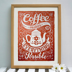 Limited Edition Coffee Print, Large by Snowdon - I'm not sure why, but many people seem to think that you can't put art in the kitchen. I say there's no such thing as too much art, so go ahead and hang this fun coffee-themed print.