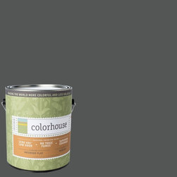 Inspired Flat Interior Paint, Metal .05, Gallon - Colorhouse paints are zero VOC, low-odor, Green Wise Gold certified and have superior coverage and durability. Our artist-crafted colors are designed to be easy backdrops for living. Colorhouse paints are 100% acrylic with no VOCs (volatile organic compounds), no toxic fumes/HAPs-free, no reproductive toxins, and no chemical solvents.