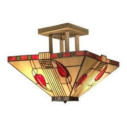 """Dale Tiffany - Dale Tiffany 2726/2LTF 10"""" Henderson Semi-Flush Ceiling Fixture with 2 Lights - Dale Tiffany 2726/2LTF 10"""" Henderson Semi-Flush Ceiling Fixture with 2 LightsCreate a fresh sense of style in your home with this unique 10"""" Henderson Semi-Flush Ceiling Fixture with Medium Base and 2 Lights. This Ceiling Fixture is a wonderful way to add a touch of elegance to your room.Dale Tiffany 2726/2LTF Features:"""