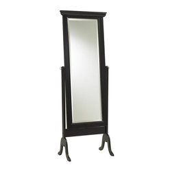 Cooper Classics - Bar Harbour Cheval Floor Mirror - 24.5W x 68H in. - 8090 - Shop for Mirrors from Hayneedle.com! The Bar Harbour Cheval Floor Mirror is designed to smoothly swivel on two turned pins embedded in the frame posts. This mirror can be positioned wherever it's needed to get a full-length view. The frame is expertly crafted of solid wood and hardwood veneers and finished in black matte. Easy assembly required for this mirror. The Bar Harbour Cheval Floor Mirror was built with first class craftsmanship to last for decades. About Cooper ClassicsCooper Classics was founded over 50 years ago and is currently operated by the third generation of the Cooper family. Their production and warehousing facilities are located in the Blue Ridge Mountains of Virginia where they produce uniquely styled mirrors and accessory furniture. Because of their extensive background in wood product manufacturing they excel in the design and production of solid wood mirror frames and furniture. Cooper's commitment to their customers is to provide products with outstanding quality and styling while maintaining a competitive price.