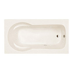 Spa World Corp - Atlantis Tubs 3260ZWL Zepher 32x60x23 Inch Rectangular Whirlpool Jetted Bathtub - The Zepher is uniquely designed as a body envelope which soothingly contours your back and arms using the side arm rests. The Zepher accomodates your needs for comfort and durability while still maintaining a practical size, making installation a breeze. Sit back, relax, and embark on the massaging jets, an spa like feeling in your home.
