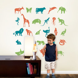 Alphabet Animals Wall Decal - Kids love to learn their ABC's with our Alphabet Animal decals!