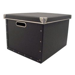 Home Decorators Collection - Cargo Naturals Dual File Box - The Cargo Naturals Dual File Box makes it easy to transport important files to and from work with its metal handles and the ability to hold both legal- and letter-size hanging files. The durable acid-free fiberboard is made from 100% recycled material and has an earth-friendly design that also makes it safe for the general organization of household documents, photos, keepsakes and more. Order it today for your office or your home decor.Made of 100% recycled, post-consumer material in earthy colors.Features metal trimmed handles, metal accents and lift-off top.Holds legal- and letter-size files.Slight variations in color and unique flecks and fibers are characteristic.Durable fiberboard is acid-free so it's safe for photos and keepsakes.Completely recyclable according to international environmental standards.