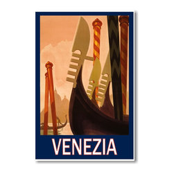 "PosterEnvy - Venezia Italy Vintage Travel Poster - 12"" x 18"" Poster on High Quality heavy 80lb satin cover paper - durable and can stand up to all kinds of abuse and it won't pucker and wrinkle like others do."