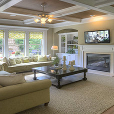 Traditional Living Room by Ashton Woods