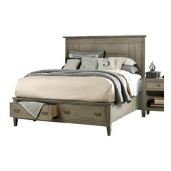 Legacy Classic - Legacy Classic Brownstone Village King Panel Bed with Storage Footboard - Legacy Classic Brownstone Village King Panel Bed with Storage Footboard