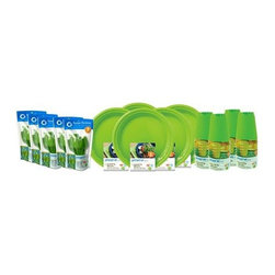 JMMurray - On the Go Party Set | Pack for 40, Apple Green - The next time you throw a party or plan a picnic, consider On the Go plates. They are lightweight and festive but can also last and last. We designed them to be dishwasher safe and withstand hundreds of uses. Unlike typical plastic dishware, they won't crack, warp or break.
