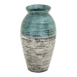 Crucially Beautiful Lacquer Vase - Description: