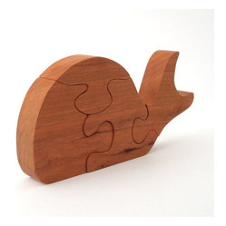 Wooden Whale Puzzle by Ooh Look, It
