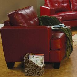 Coaster - Samuel Collection Red Transitional Chair - The Sammuel Collection offers style and comfort with its clean lines and attached seat cushions. The only way to truly appreciate this collection os to sit and experience it.