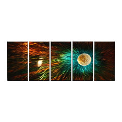 Matthew's Art Gallery - Metal Wall Art Abstract Modern Contemporary Sculpture Home Wall Decor Cold Sun - Name: Cold Sun