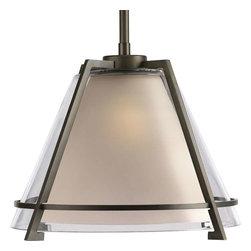 Progress Lighting - Progress Lighting P5178-108 Glass Pendants 1 Light Pendant Light - Progress Lighting P5178-108 Glass Pendants 1 Light Pendant Light In Oil Rubbed Bronze