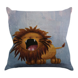 """Kess InHouse - Rachel Kokko """"Dandy Lion"""" Throw Pillow (16"""" x 16"""") - Rest among the art you love. Transform your hang out room into a hip gallery, that's also comfortable. With this pillow you can create an environment that reflects your unique style. It's amazing what a throw pillow can do to complete a room. (Kess InHouse is not responsible for pillow fighting that may occur as the result of creative stimulation)."""