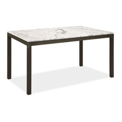 Parsons Table/Desk - This classic Parsons desk is so versatile. It makes a great dining table, work table, or desk, and it comes in a wide range of tops. Price shown is for the marble top.