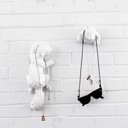 Hide and Seek Wall Decor - These whimsical squirrel hooks would love to give you a hand with your things.