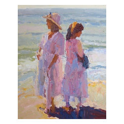'Generations' Framed Oil Painting - Like mother like daughter. Figurative painter Greg Carter captures the special bond between two generations in this original piece of artwork. Hang it in your bedroom or formal living room for a formal touch.