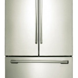 """Samsung - RF261BEAESP 36"""" 26 cu. ft. Capacity French Door Refrigerator with Internal Filte - Easily organize your groceries with this Samsung French door refrigerator that features 5 spill-proof glass shelves that contain spills for easy cleaning and 6 gallon-size door bins for storing large containers including milk jugs"""