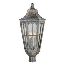Maxim Lighting - Maxim Lighting 40150CDSE Beacon Hill VX 3-Light Outdoor Pole/Post Lantern - Features