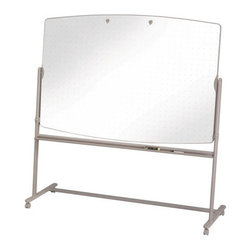 Quartet - Total Erase Reversible Mobile Easels in Neutral/White - Features: -This versatile and mobile lightweight easel is always good-to-go. The easy-rolling wheels lets you transport this dual-sided whiteboard from room-to-room with ease. The writing surface cleans quickly and is slightly angled for enhanced visibility. .-Reversible vertical mobile easel with double-sided, highly durable Total Erase whiteboard surfaces that resist staining, ghosting, scratching and denting .-Frequent use - delivers quality performance in offices and meeting rooms .-Subtle grid pattern keeps writing aligned and also equipped with flipchart holder .-Double-sided riting surface easy to clean with Quartet cleaning solutions .-Easily transportable with 4 smooth-running wheels that lock into place for stability .-Includes spacious built-in accessory tray, 4 Quartet dry-erase markers and 1 eraser .-Radius-edge steel frame and neutral color blends into any contemporary office space .-100% Satisfaction Guaranteed.