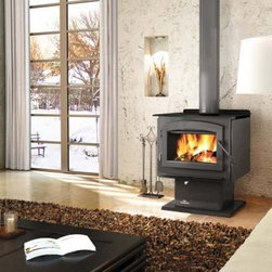 Napoleon Independence Wood Stove - Stay warm all winter long with the beautiful Napoleon Independence Wood Stove. Crafted from strong and durable steel with a cast iron door this gorgeous wood-burning stove can heat 800-2000 plus square feet keeping you warm and toasty even when it's bitterly cold outside. Able to burn up to nine hours you won't have to worry about the fire going out quickly. With a firebox with 2.25 cubic square feet the Napoleon can hold logs up to 18-inches long and with its non-catalytic high tech design does not require a delicate ceramic catalytic combustor which can deteriorate over time. You'll love the cast iron door and large glass viewing area which is kept clean by the air wash system and high temperatures. Whether you're using this word burning stove for practical or artistic reasons you'll love its functionality and sophisticated style. Additional Features Can heat 800-2000+ square feet Approved for use in a mobile home Up to 70000 BTU's on high burn Firebox holds up to 2.25 cubic square feet Beautiful large viewing area Elegant arched cast iron door Non-catalytic high tech design Does not need a ceramic catalytic combustor Airwash system and high temps keeps glass clean Does not include an ash pan Use of a professional installer is recommended to ensure the safety of the exhaust system. About NapoleonNapoleon got its start in 1976 as a steel fabrication business launched by Wolfgang Schroeter in Barrie Ontario Canada. Solid cast iron two-door stoves were became a single glass door model with Pyroceram high-temperature ceramic glass. In 1981 the name Napoleon was coined for their items. Over the years Napoleon has led the way with innovative engineering and design. They are now North America's largest privately owned manufacturer of quality wood and gas fireplaces gourmet gas and charcoal grills outdoor living products and heating and cooling products.