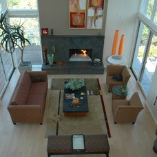 Contemporary Family Room by Kashmere Interiors and Draperies