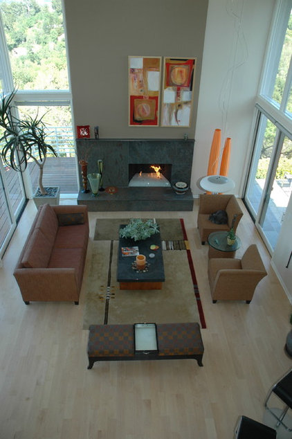 contemporary family room by Kashmere Interiors