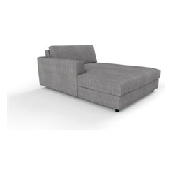Classic Chaise Lounge by Kvadra/Prostoria - For those who require simple lines and meticulous details in a roomy chaise, the Classic Chaise Lounge may suit beautifully.