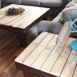 Yonder Years 2 Piece Set - Rustic Reclaimed Wood Large Square Coffee Table - Sid - Make an eco friendly statement in your living space with beautiful tones of natural reclaimed wood!