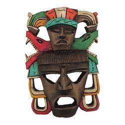 Mayan Mask – Mayan Thinker-4 - -Handmade by Artisans in Mexico