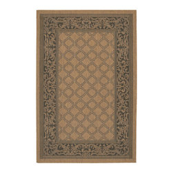 """Couristan - Couristan Recife Garden Lattice, Cocoa, Black, 8'6"""" Square Rug - Distinctively designed to complement the simple yet classic styling of outdoor furniture, uniquely colored to make stone entryways and patio decks warmer and more inviting, Couristan is proud to expand its popular indoor/outdoor area rug collection, Recife. Power-loomed of 100% fiber-enhanced Courtron polypropylene, this all-weather, pet-friendly, mold and mildew resistant area rug collection features a durable structured, flatwoven construction, which allows it to be suitable for indoor and outdoor use. The naturally inspired color palette offered in this versatile collection features a series of unique combinations of natural hues that have been selected to complement today's hottest outdoor home furnishings. Hosting a wide range of sizes including runners and special shapes in the form of rounds and squares, the Recife Collection has been designed to offer the perfect outdoor floor covering solution for the home."""
