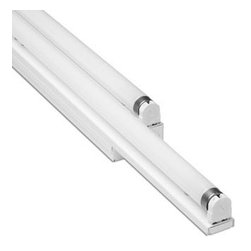 Bartco Lighting Co. - Linear T8 Slide By Side Integral Ballast - Slide by Side 32W staggered double width strip lighting features a pair of fluorescent lamps housed side by side, one offset from the other, in a low profile galvanized steel linear structure. After adjusting its length, the sliding side locks in place with an easy to use screw mechanism. High reflectance white powder-coated finish. Can also be ordered in custom finishes. Available options include a plastic tube guard, symmetrical reflector or asymmetrical reflector. Also comes in 17 Watt or 25 Watt models. In-line electronic ballast included. Optional emergency ballast and dimming ballast are available. General light distribution. UL listed. 48-5/8 inches minimum length. Extends up to 70-7/8 inches long. 2 -7/16 inches high x 2-3/4 inches deep. Two 32 Watt 120 Volt T8 fluorescent Bi-pin lamps not included. General light distribution. Made in USA.
