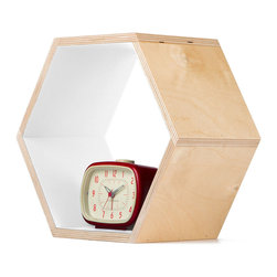 White Hexagon Bookshelf - Bees create hexagonal honeycombs because they are the most efficient use of space in crowded hives. You can do the same for your home with these honeycomb shelves. The unique shape makes it easy to display plants and books in the living room, personal accessories in your bedroom, or even toiletries in the bathroom. With this distinctive look, you'll feel like a queen bee in your home too. Mix and match to create your own distinct setup.