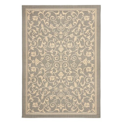 """Safavieh - Safavieh Courtyard CY2098-3606, Gray, 7'10"""" Square Rug - Safavieh's Courtyard collection was created for today's indoor/outdoor lifestyle. These beautiful but practical rugs take outdoor decorating to the next level with new designs in fashion-forward colors and patterns from classic to contemporary. Made in Turkey with enhanced polypropylene for extra durability, Courtyard rugs are pre-coordinated to work together in related spaces inside or outside the home."""