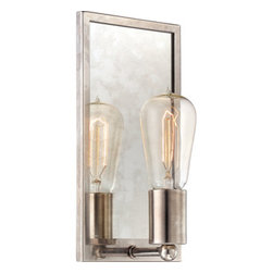 Echo Muted Silver Edison-style 1-light Pocket Wall Sconce -