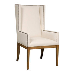 Hooker Furniture - Hooker Furniture Brookhaven Upholstered Dining Arm Chair in Cherry - Hooker Furniture - Dining Chairs - 300350035 - What better to serve with comfort food than a comfort chair? Our soft and inviting dining arm chairs in styles ranging from Neoclassic to contemporary will comfort you at the end of the day and welcome your guests.