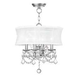 Joshua Marshal - Brushed Nickel Up Chandelier - Brushed Nickel Up Chandelier