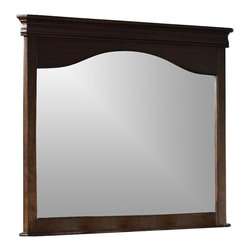 Liberty Furniture - Alexandria Landscape Mirror - 2 in. frame thickness. Warranty: One year. Made from select hardwoods and cathedral cherry veneers. Autumn brown finish. Made in Vietnam. 47 in. W x 42 in. H (53 lbs.)