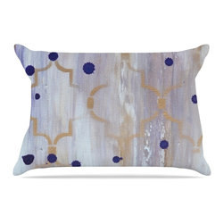 """Kess InHouse - Kira Crees """"Lush"""" Gray Blue Pillow Case, King (36"""" x 20"""") - This pillowcase, is just as bunny soft as the Kess InHouse duvet. It's made of microfiber velvety fleece. This machine washable fleece pillow case is the perfect accent to any duvet. Be your Bed's Curator."""