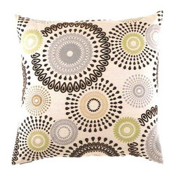 """Canaan - 24"""" x 24"""" Missoni Blue Circles Pattern Throw Pillow - Missoni blue circles pattern throw pillow with a feather/down insert and zippered removable cover. These pillows feature a zippered removable 24"""" x 24"""" cover with a feather/down insert. Measures 24"""" x 24"""". These are custom made in the U.S.A and take 4-6 weeks lead time for production."""