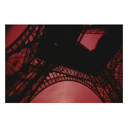 Custom Photo Factory - Silhouette of Historical Eiffel Tower in Paris, France Canvas Wall Art - Silhouette of Historical Eiffel Tower in Paris, France  Size: 20 Inches x 30 Inches . Ready to Hang on 1.5 Inch Thick Wooden Frame. 30 Day Money Back Guarantee. Made in America-Los Angeles, CA. High Quality, Archival Museum Grade Canvas. Will last 150 Plus Years Without Fading. High quality canvas art print using archival inks and museum grade canvas. Archival quality canvas print will last over 150 years without fading. Canvas reproduction comes in different sizes. Gallery-wrapped style: the entire print is wrapped around 1.5 inch thick wooden frame. We use the highest quality pine wood available. By purchasing this canvas art photo, you agree it's for personal use only and it's not for republication, re-transmission, reproduction or other use.