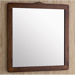 """Gedy by Nameeks - Montana 26"""" x 22"""" Vanity Mirror - Features: -Vanity mirror. -Montana collection. -Finish: Old Walnut. -Constructed of wood and mirror. -Shape: Rectangle. -Wall mounted. -For contemporary bathrooms. -Dimensions: 26.2"""" H x 0.6"""" D x 21.7"""" W."""