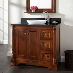 "36"" Tullford Vanity for Semi-Recessed Sink - Walnut - A traditional bathroom update is incomplete without the 36"" Walnut Tullford Vanity."
