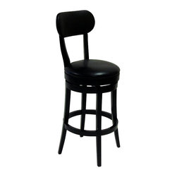 Armen Living - Armen Living Roxy 26 Inch Black Bicast Leather Swivel Barstool - Armen Living - Bar Stools - LC4022BABL26 - The incomparably chic look of the Roxy Swivel Barstool in black bicast leather is sure to elevate the design element in your home. Nailhead accents on the outside back add virulent value to sophisticated style. Assembly requiblack.